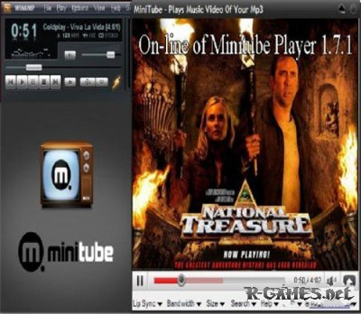On-Line of Minitube Player 1.7.1