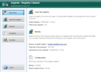 Argente Registry Cleaner 3.1.1.0 Portable