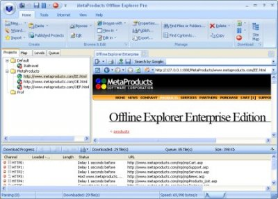 Offline Explorer 6.9.4198 SR3 Enterprise Portable